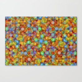 Bubbly Colours Pattern Canvas Print