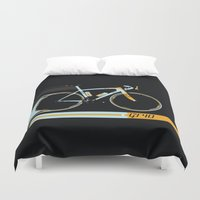 bike Duvet Covers featuring Bike by Wyatt Design