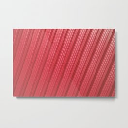 Stripes II - Red Metal Print