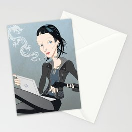 Lisbeth Dragon Smoke Stationery Cards