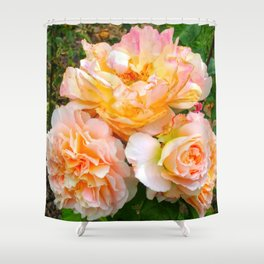 Bunch of Orange and Pink Roses Shower Curtain