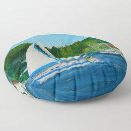 Come Sail Away Floor Pillow