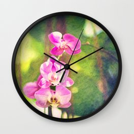 Orchid Impressions Wall Clock
