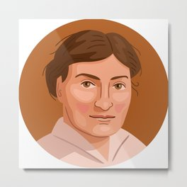 Queer Portrait - Willa Cather Metal Print