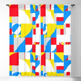 Bold Bauhaus Brights Blackout Curtain