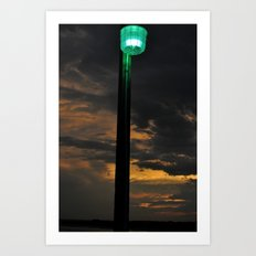 Pier Light Art Print