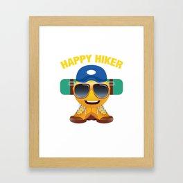 Happy Hiker Framed Art Print