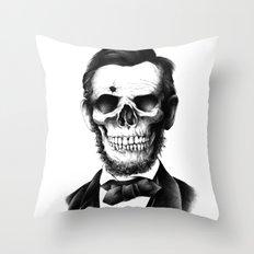 Lincoln Skull Throw Pillow
