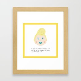 Congrats on your new baby! Framed Art Print