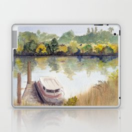 Autumn on the Delta: Houseboat on the Sacramento River, Walnut Creek, California Laptop & iPad Skin