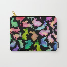 Kissing Watercolor Bunnies Carry-All Pouch