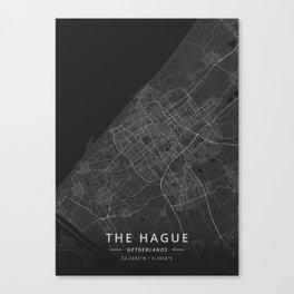 The Hague, Netherlands - Dark Map Canvas Print