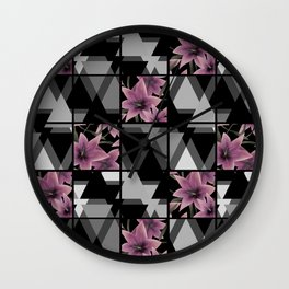 Patchwork , Lily Wall Clock