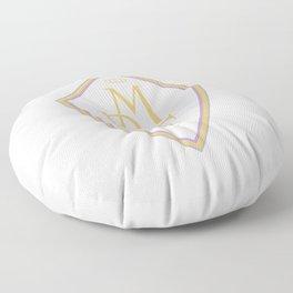 Madrid Blanco Badge Floor Pillow