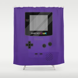 Gameboy Color - Purple Shower Curtain