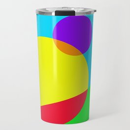 Circles #1 Abstract Modern Painting by Bruce Gray Travel Mug