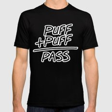 Puff + Puff = Pass Black MEDIUM Mens Fitted Tee