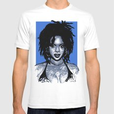 Lauryn Hill LARGE White Mens Fitted Tee