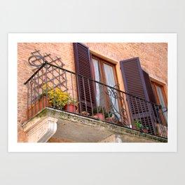 Siena Balcony Art Print