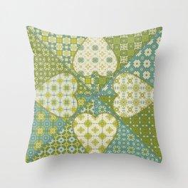 Quilt 4 (Hearts) Throw Pillow