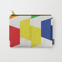 Paper Fold Colors Large Carry-All Pouch