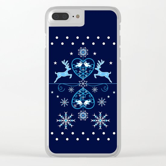 Decorative holidays pattern design Clear iPhone Case