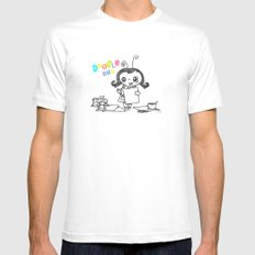 Doodle Bug MEDIUM White Mens Fitted Tee