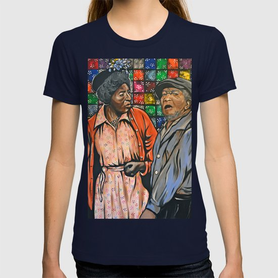 77bcbe86 Aunt Esther vs. Fred Sanford T-shirt by portraitsontheperiphery | Society6