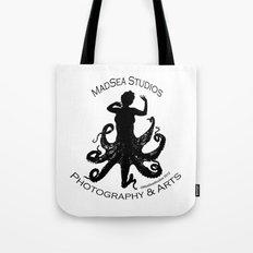 MadSea Nymph, black on white Tote Bag