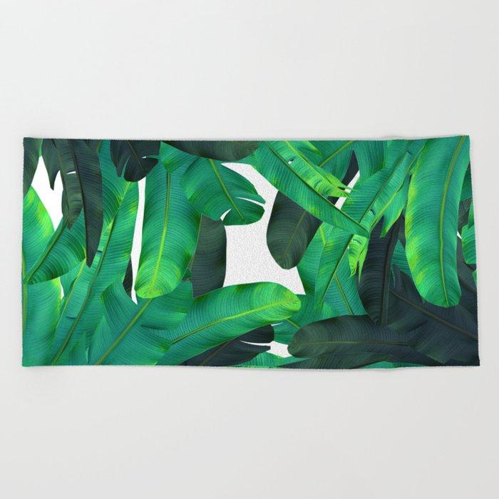 tropic green Beach Towel