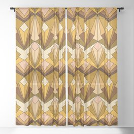 Art Deco meets the 70s - Large Scale Sheer Curtain