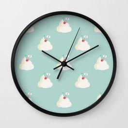 Cherry on top pattern Wall Clock