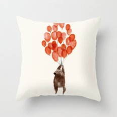 Almost take off Throw Pillow