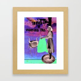 life on stand by Framed Art Print