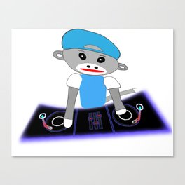 Dj Monkey Canvas Print