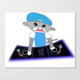 Dj Monkey Canvas Print