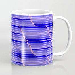 Geo Stripes - Cobalt Blue Coffee Mug