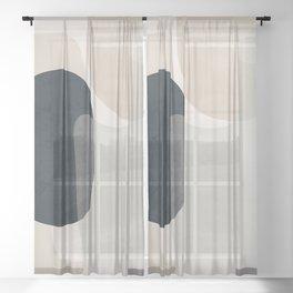 Abstract Geometric Art 52 Sheer Curtain