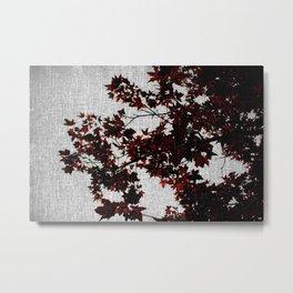 Black and Red Leaves Metal Print