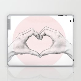 heart in hands // hand study Laptop & iPad Skin