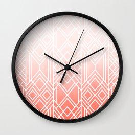 Art Deco Fading Peach Wall Clock