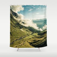 wander Shower Curtains featuring Wander by StayWild