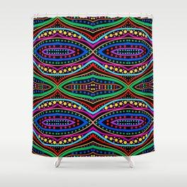 Ancient Tribal Celebration (black) Shower Curtain