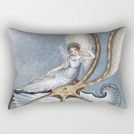 """""""Fairy Resting On A Shell"""" by Amelia Jane Murray Rectangular Pillow"""