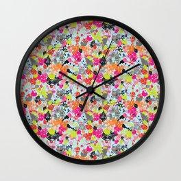 Neon Wilderness  Wall Clock