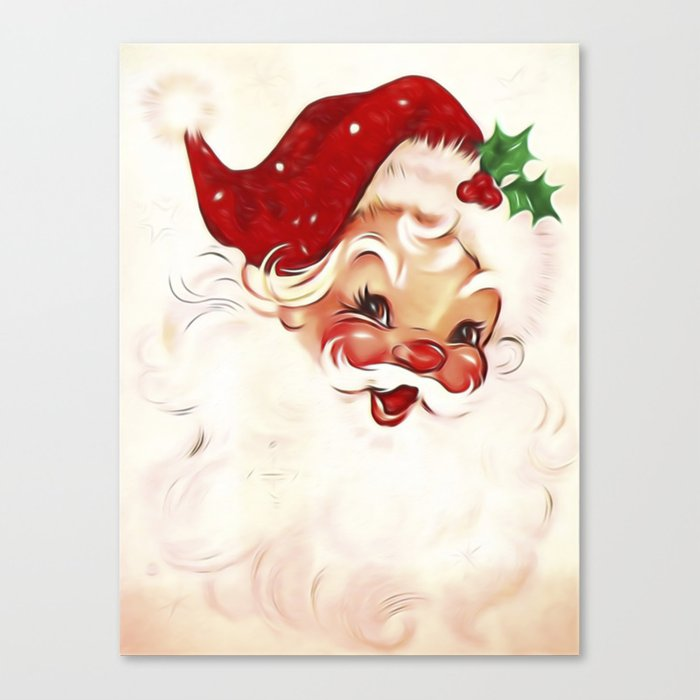 Vintage Santa 4 Leinwanddruck