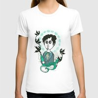 writer T-shirts featuring Rimbaud Holy Writer by roberto lanznaster