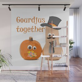 Gourdjus Together Cute Just Married Wedding Vector Wall Mural