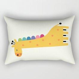 Giraffe Piano Rectangular Pillow