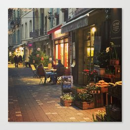 Evening in Provence Village Canvas Print
